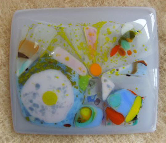 """H"" Fused Glass"